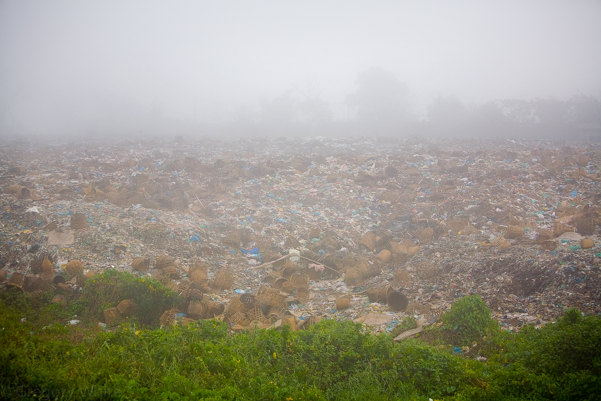 Garbage dump near Yangon.