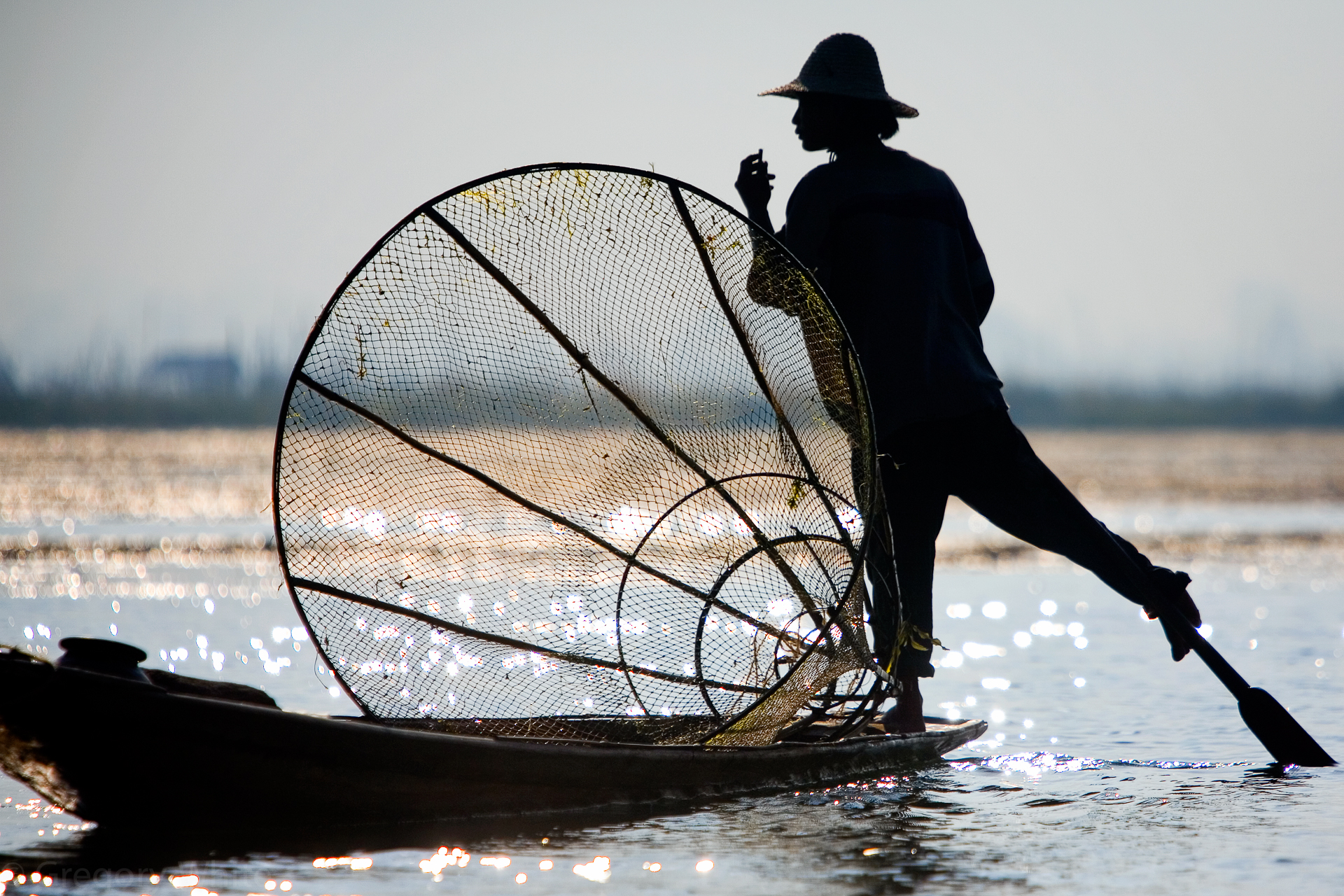 Fisherman, Inlee Lake, Burma, 2006