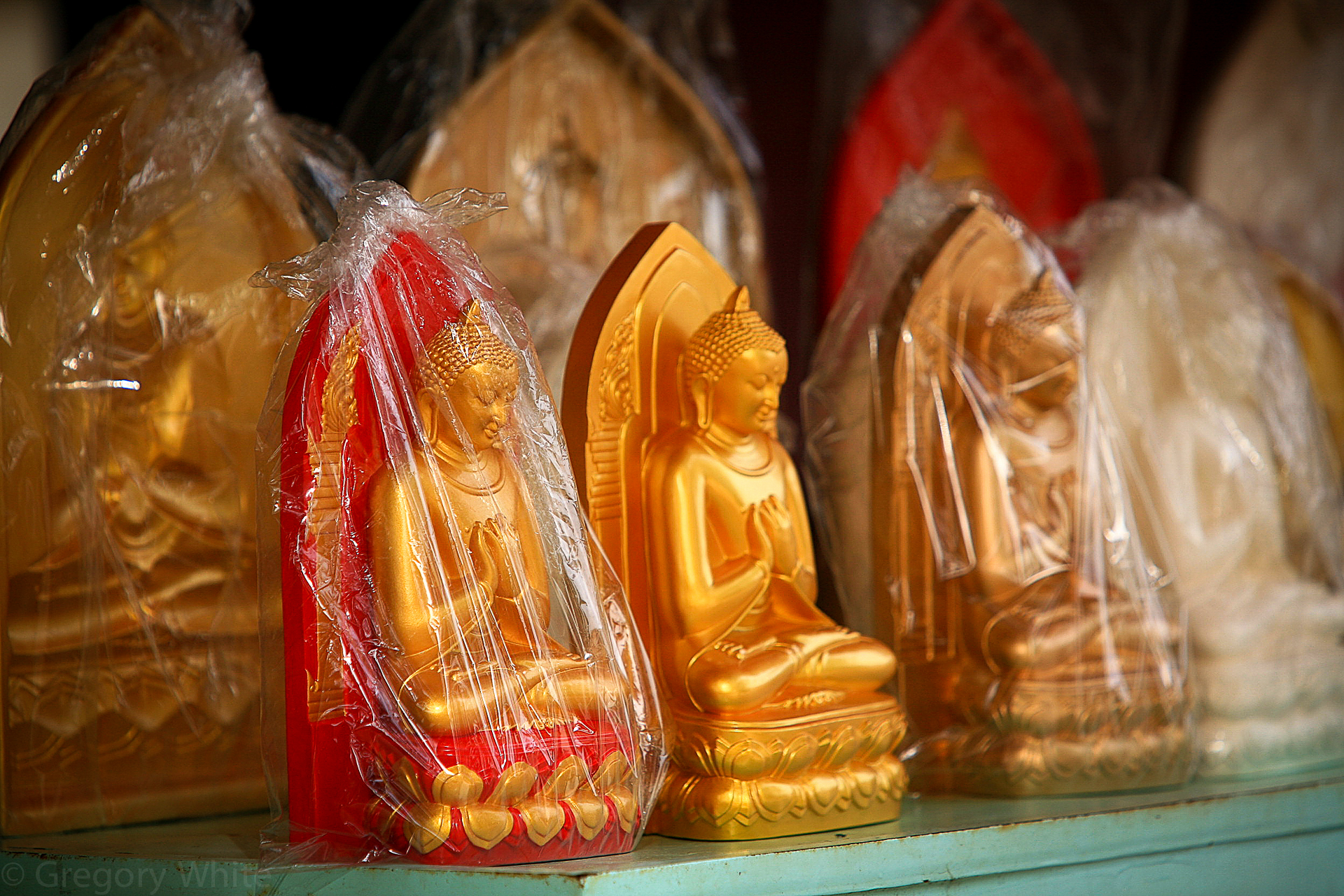 Buddhas for sale.