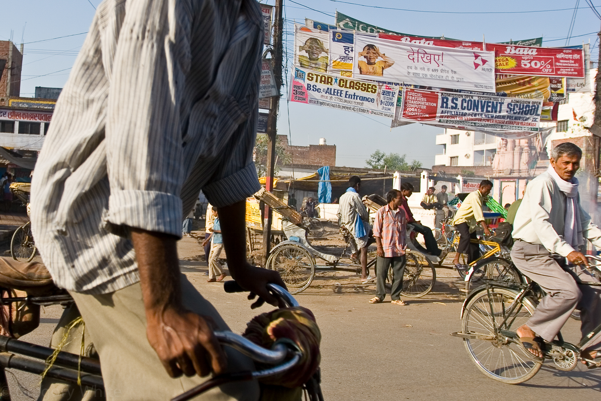 The streets of Varansi are a study in controlled chaos.