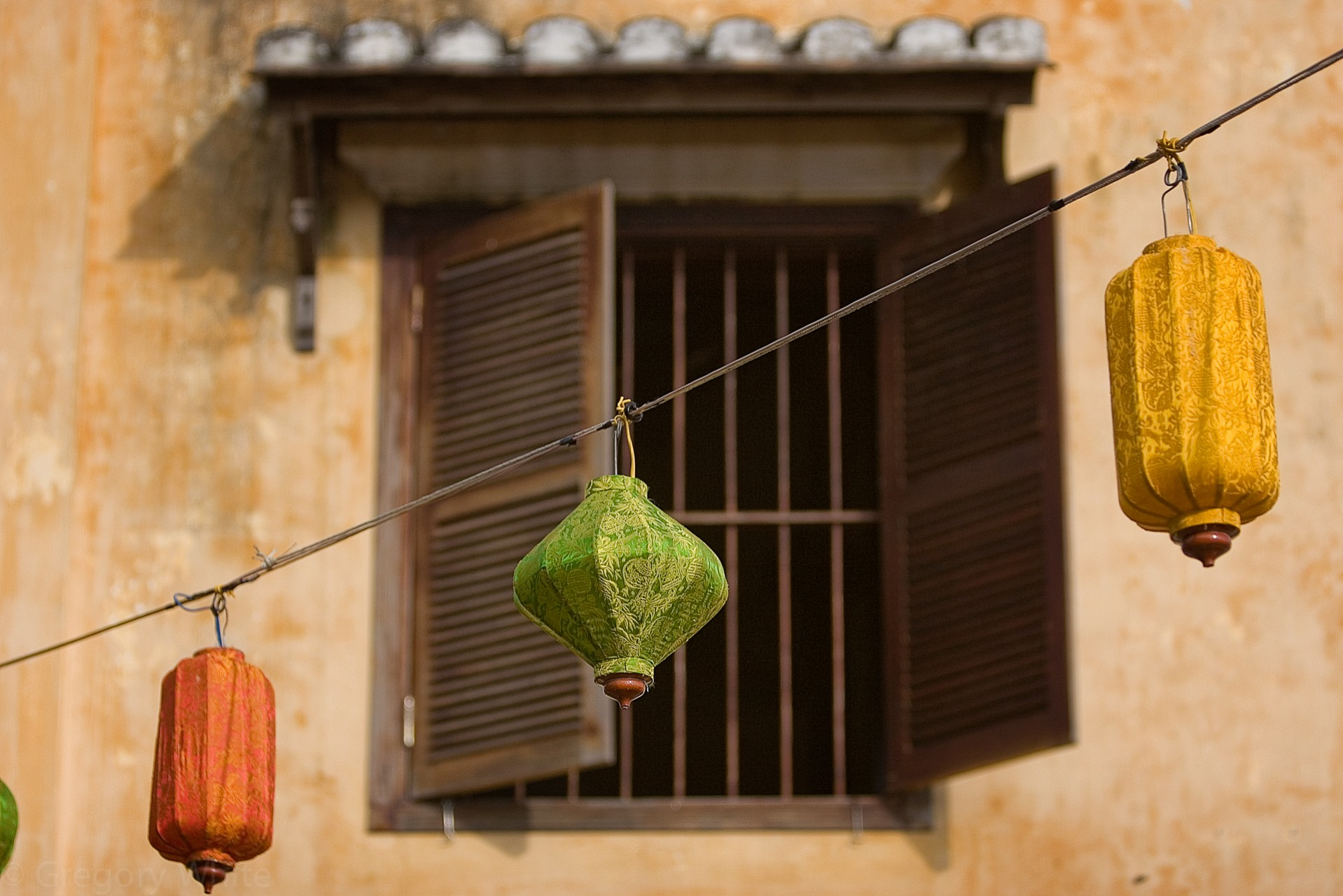 Colorful lanterns hang for the full moon celebration in Hoi An, Vietnam.