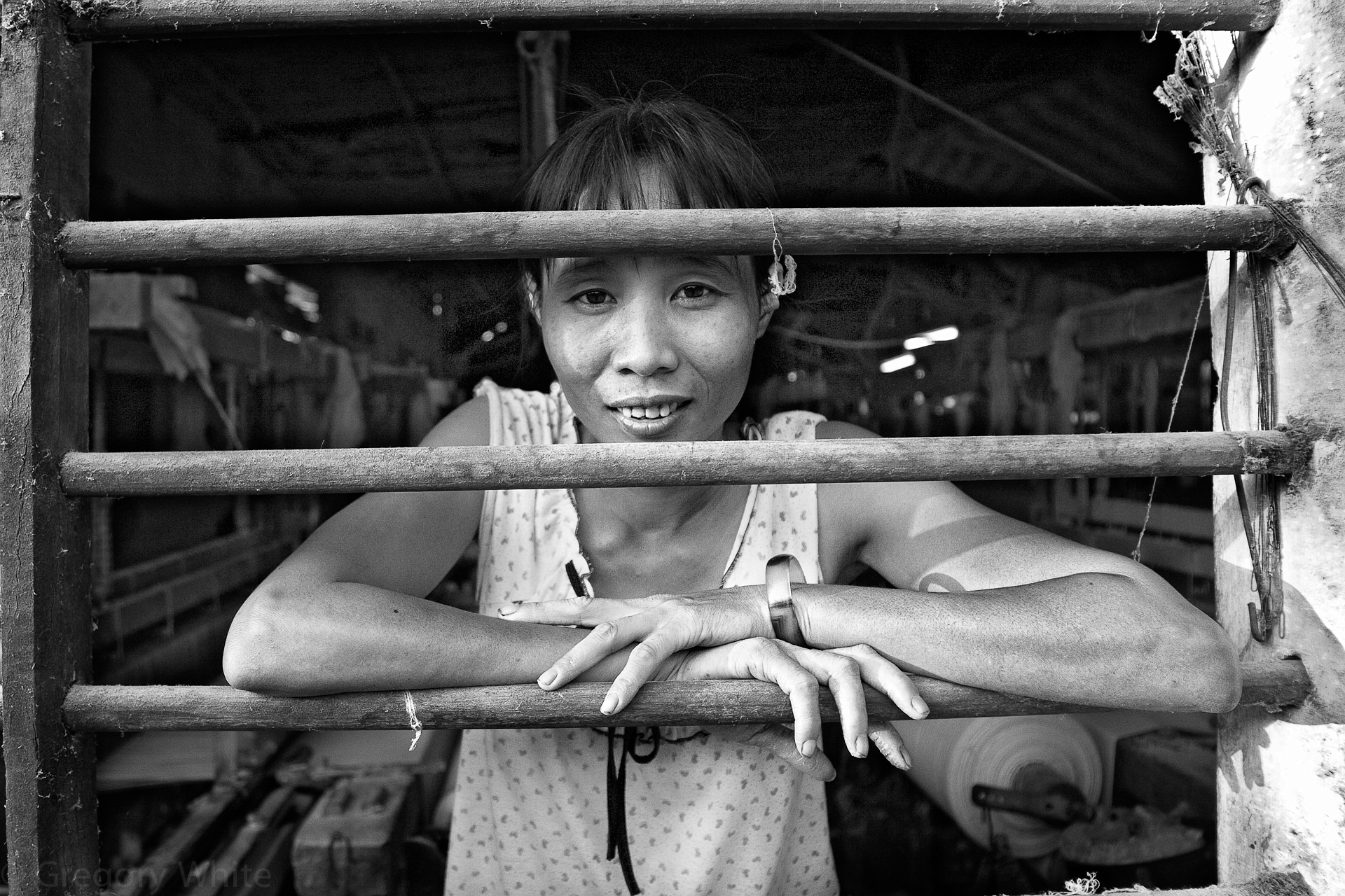 Factory worker in Hoi An.