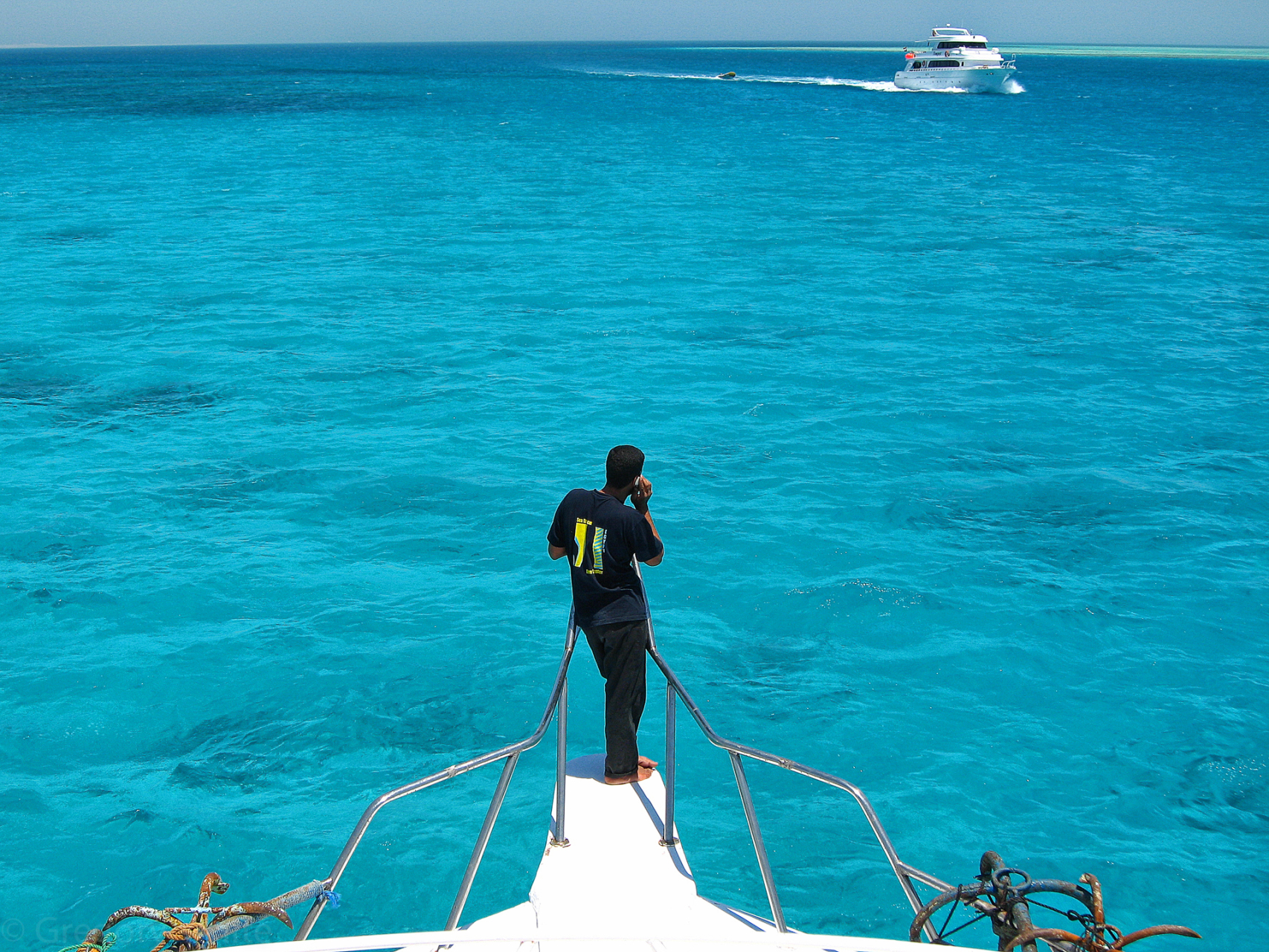 The beautiful Red Sea.  Not red, more aquamarine.