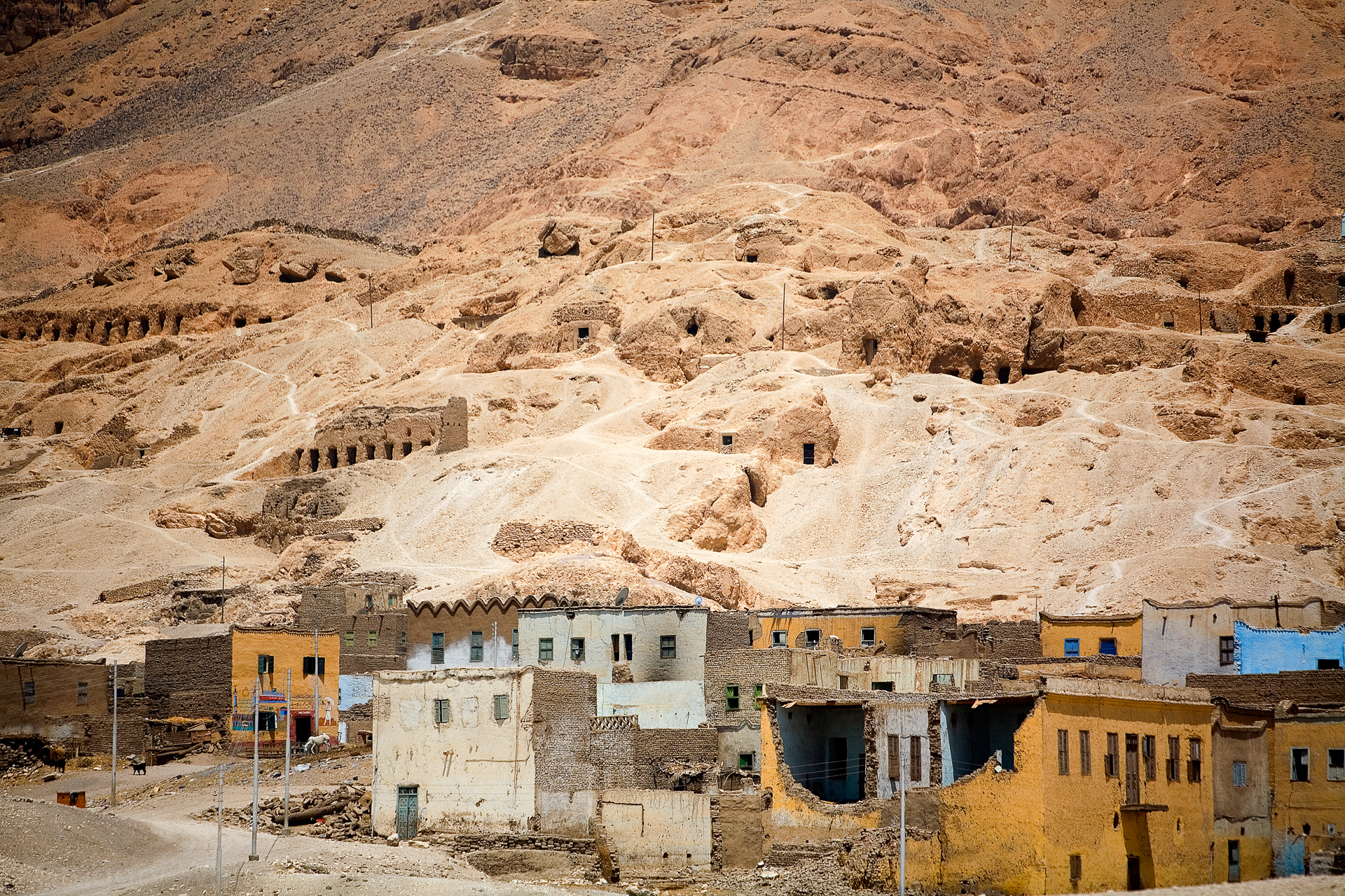 A ghost town in the Sinai Desert.