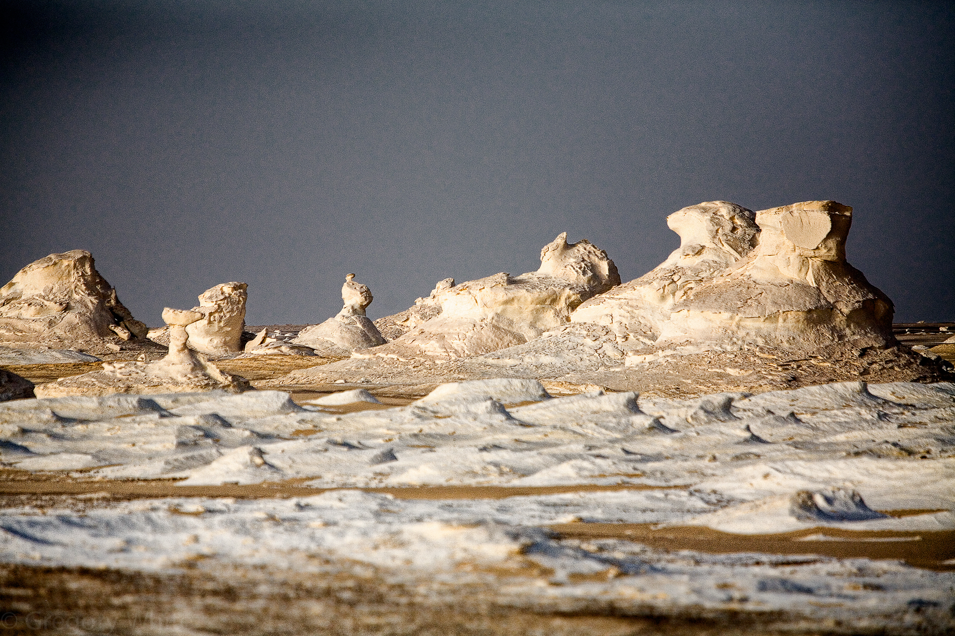 White Desert rock formations.  Do you see the chicken, the bunny, and the frog?