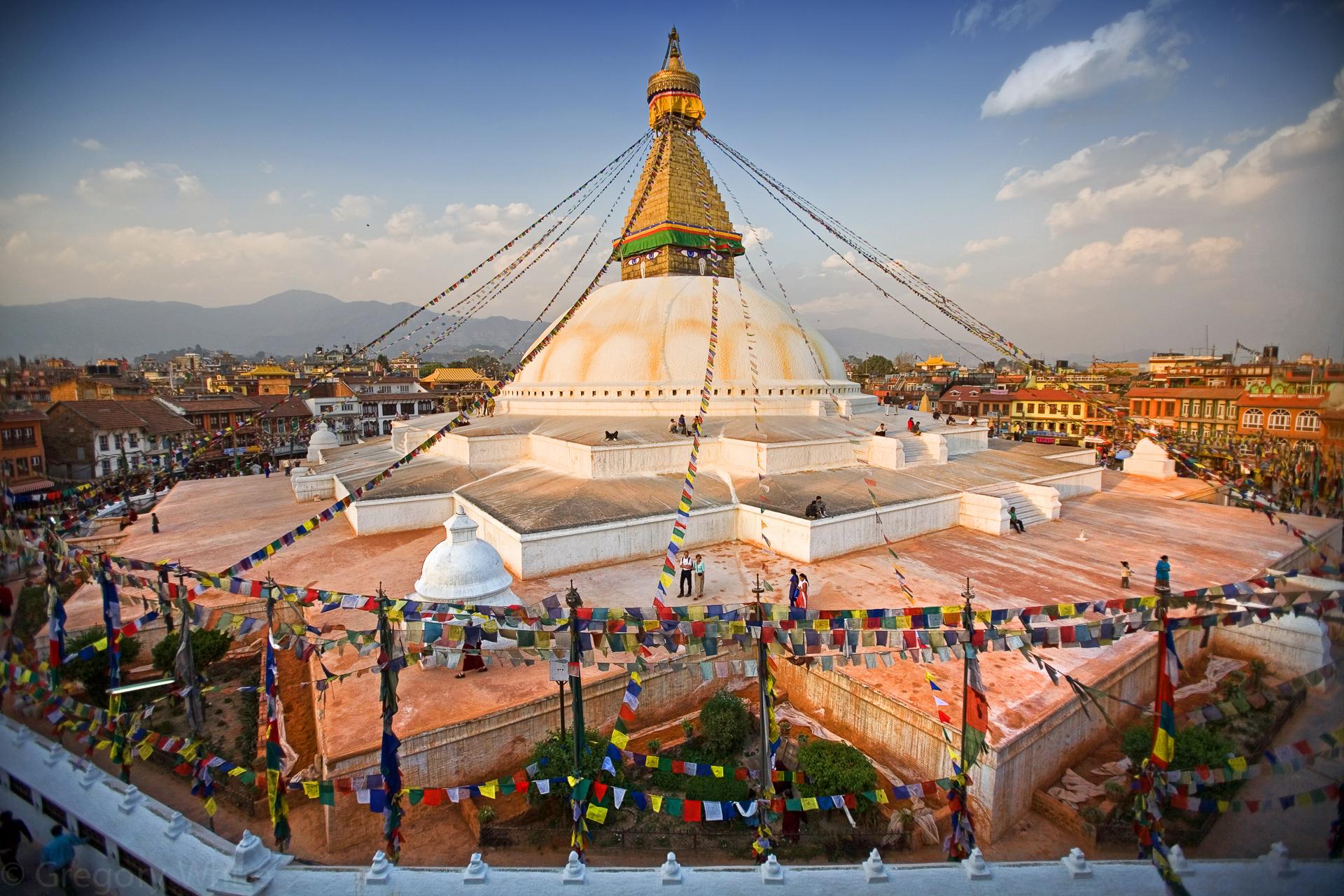Boudhanath, Kathmandu, Nepal.