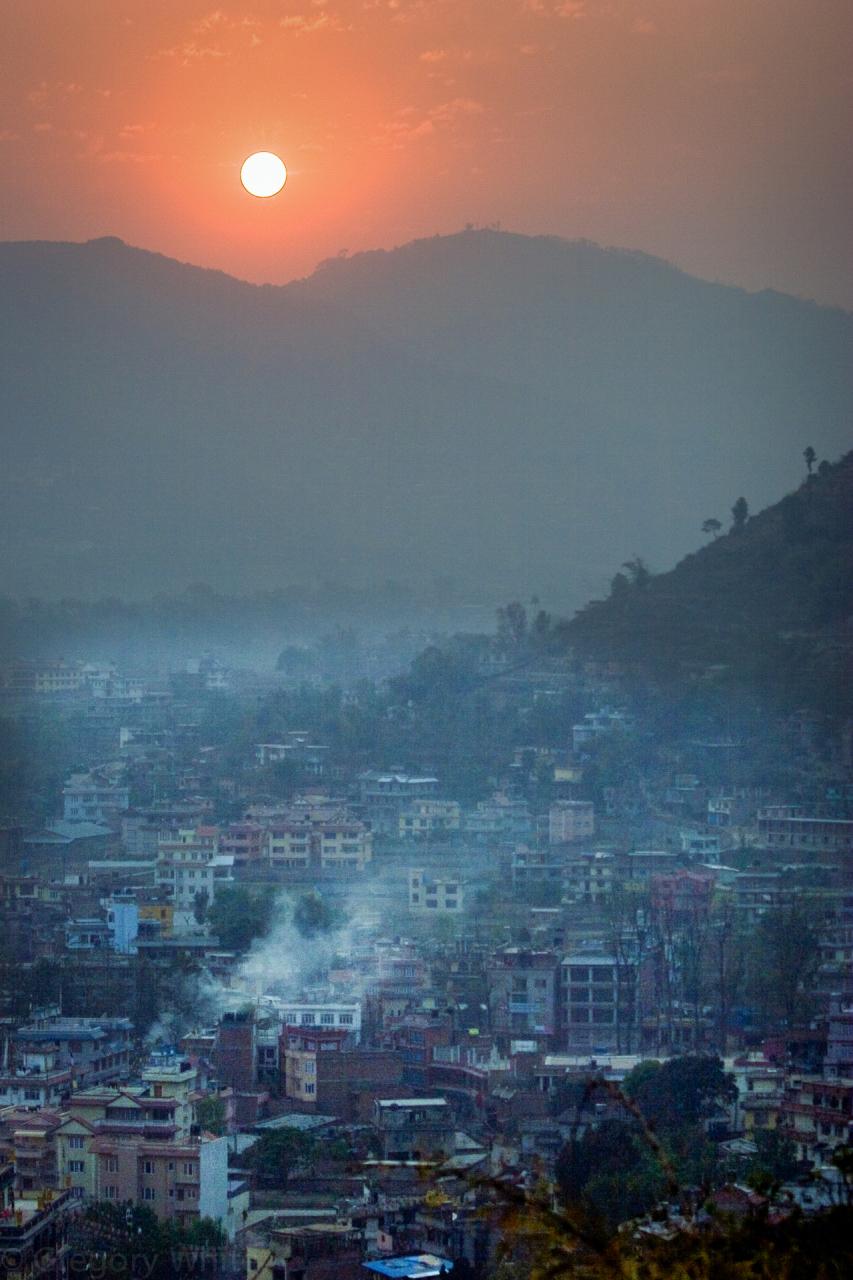 Kathmandu Sunset, Nepal.