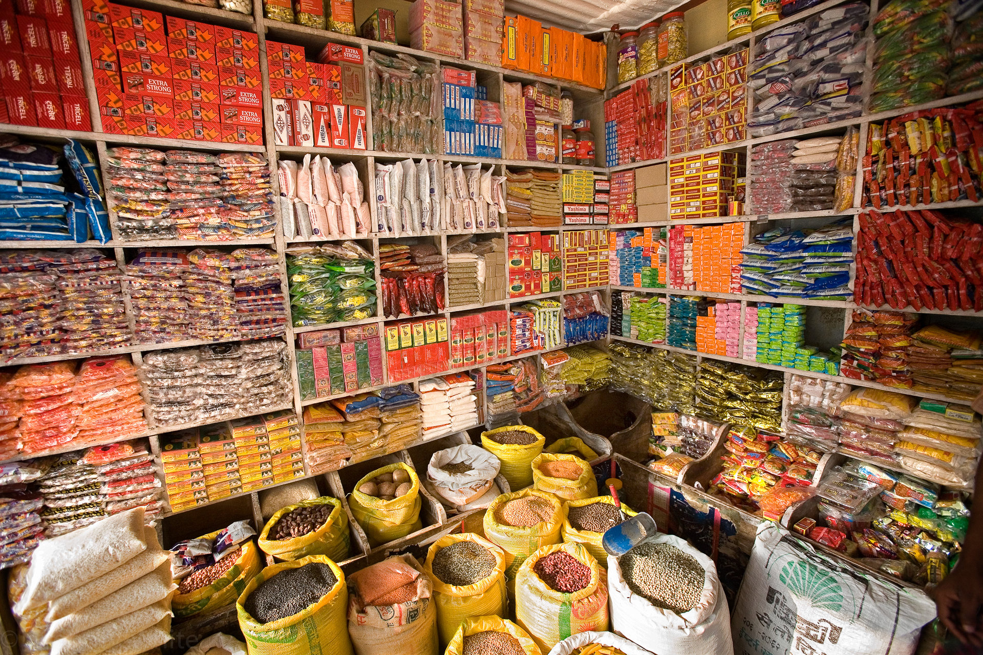 A colorful shop stocked with everything needed for your Annapurna trek.