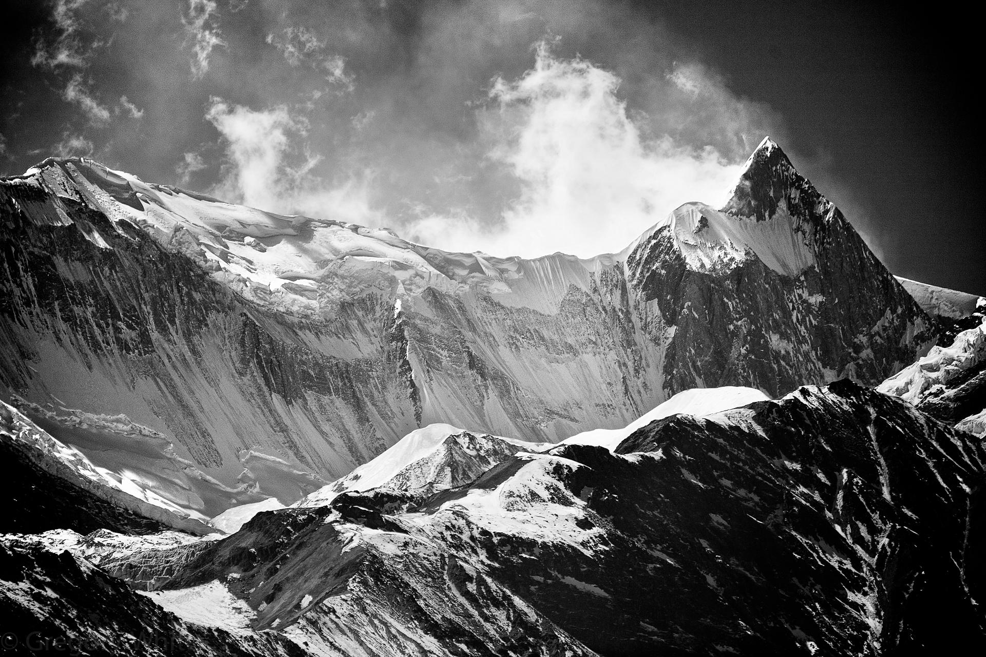 Roc Noir (24, 899 ft) aka Kangshar Kang in the Annapurna mountains.