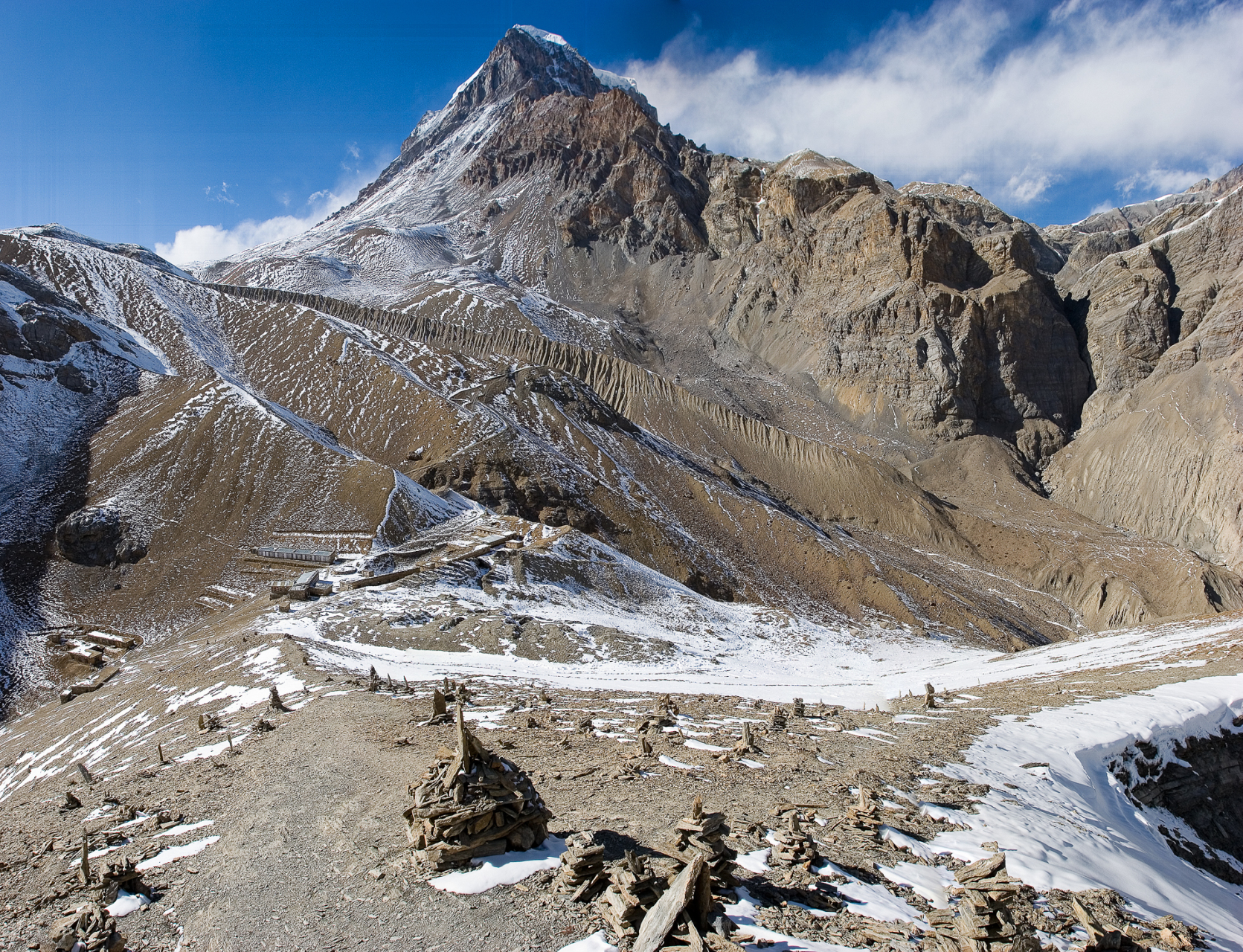 Approach to the top of Thorong La Pass.  At 17,769 ft, it's the highest on the Annapurna Circuit.
