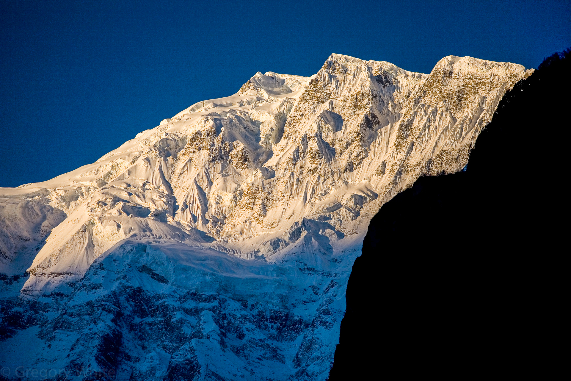 Annapurna IV at sunrise.   7525 meters.