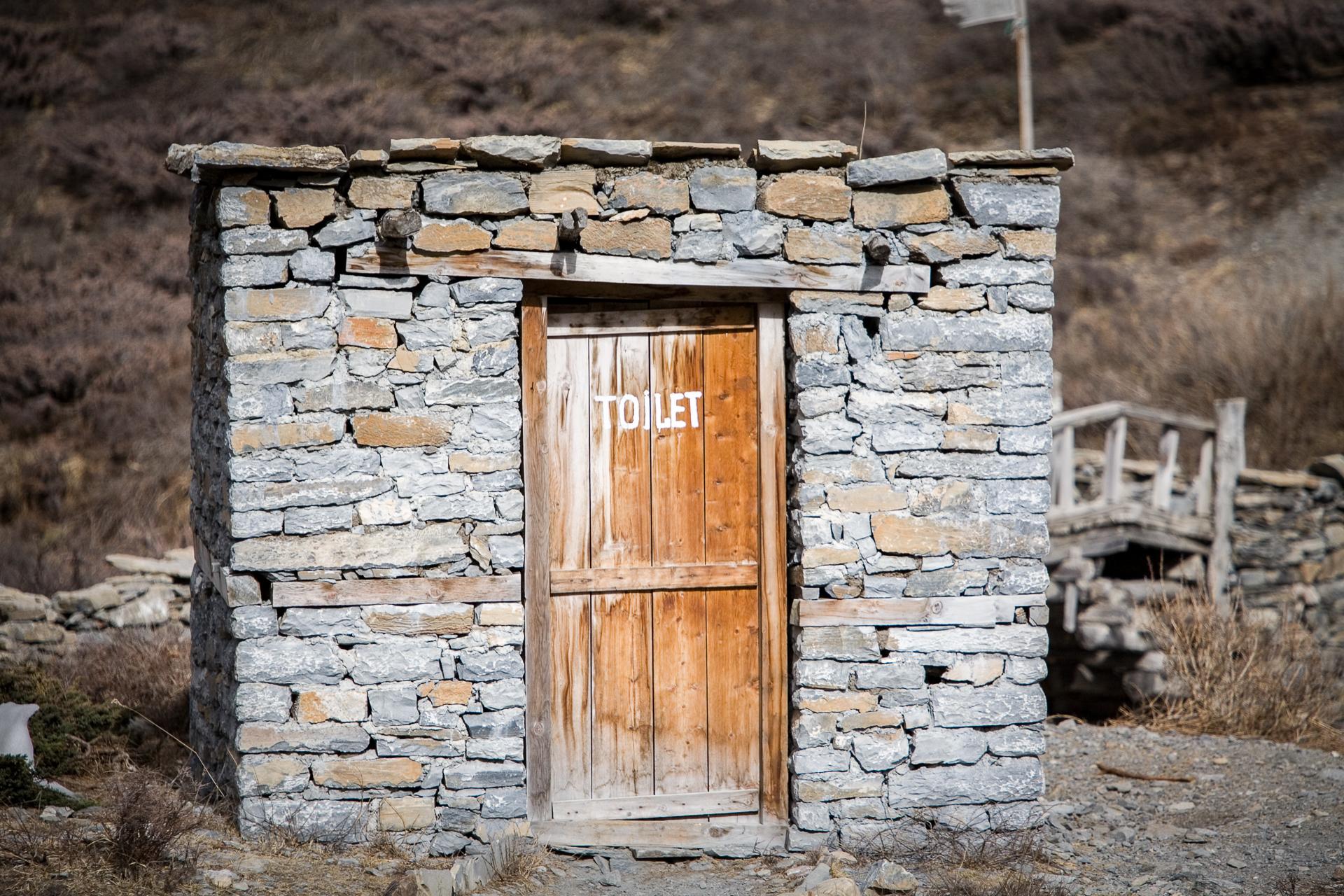 Toilet near Tilicho lake.