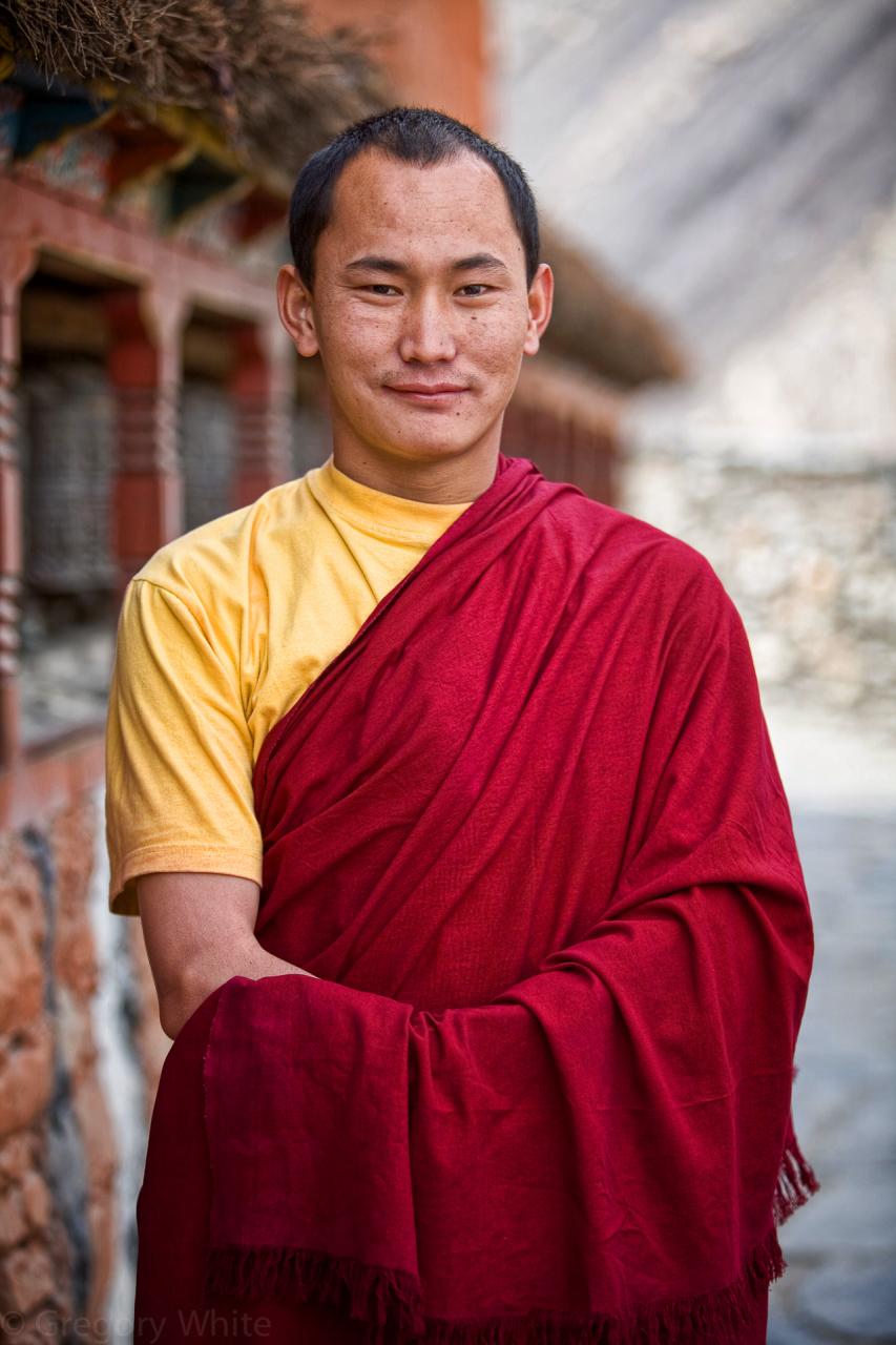 Young monk, Kokbeni.